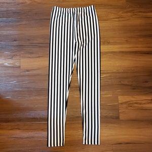 Pants - Black and white striped leggings Beetlejuice pants